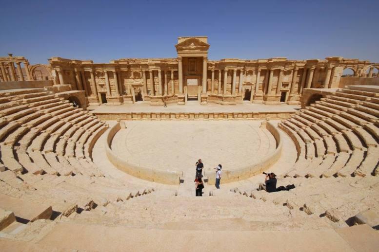 Il teatro romano di Palmira edificato nel II secolo d.C. (Foto: Corriere.it)