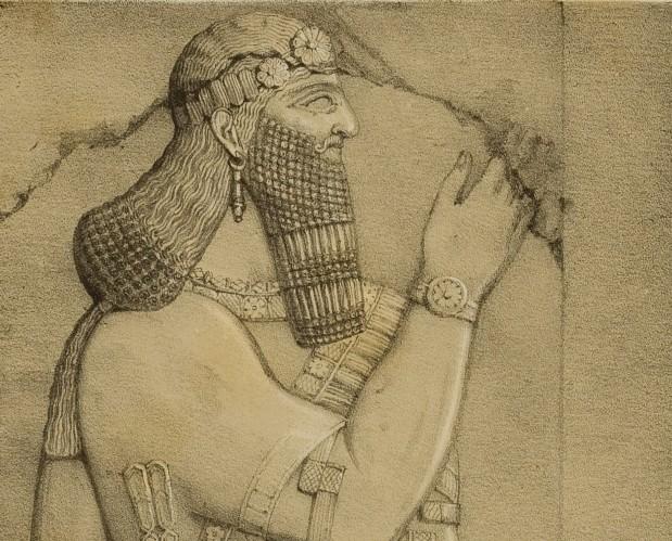 Bassorilievo dal palazzo di Ninive da Laynard.