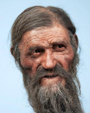 Il volto di Ötzi ricostruito con tecniche forensi (Foto: http://news.nationalgeographic.com/)