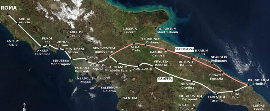 La Via Appia e la Via Appia Traiana