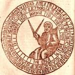 la Ruota per il calcolo della Pasqua dall'Almanacco Perpetuo di Rutilio Benincasa, XVIII secolo.
