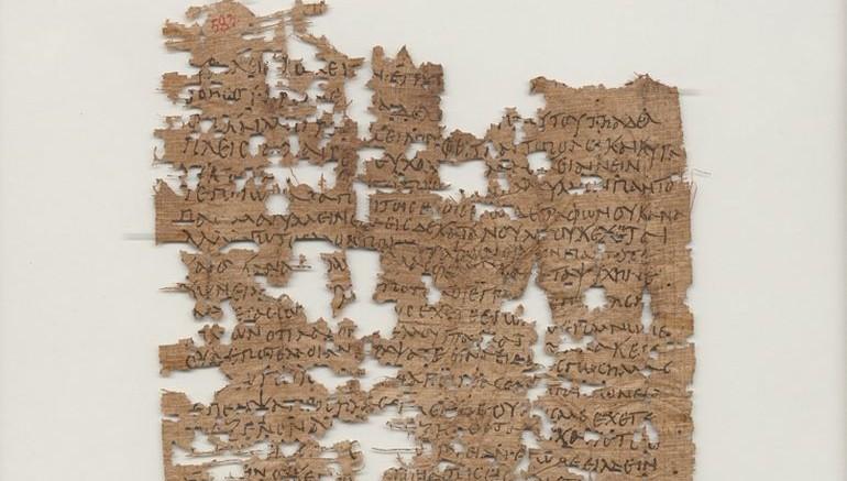 La lettera ritrovata in Egitto, III sec. d.C. Immagine gentilmente concessa dalla University of California, Berkley's Bancroft Library.