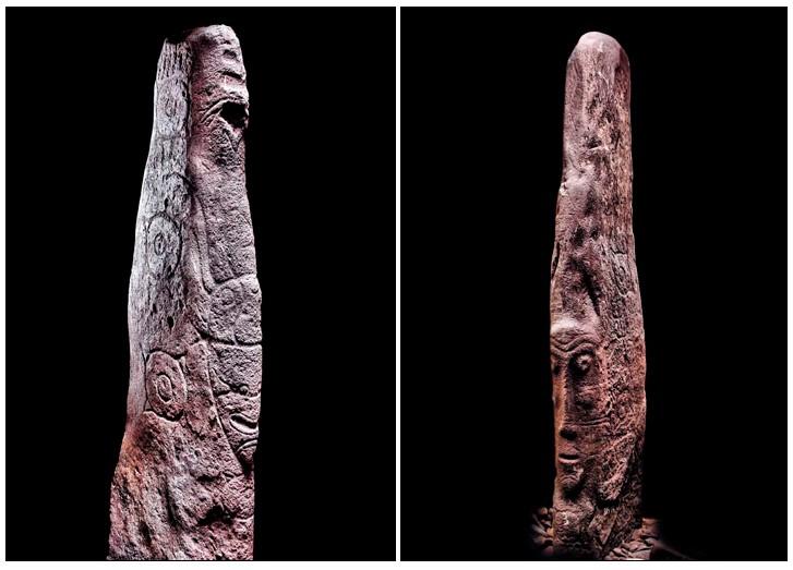 """Abbiamo una grande quantità di patrimonio artistico, sotto forma di numerose immagini, """"maschere"""", scolpite o incise sulle rocce. Hanno uno stile particolare, che è simbolo della cultura Okunev (Foto: Boris Dolinin)"""
