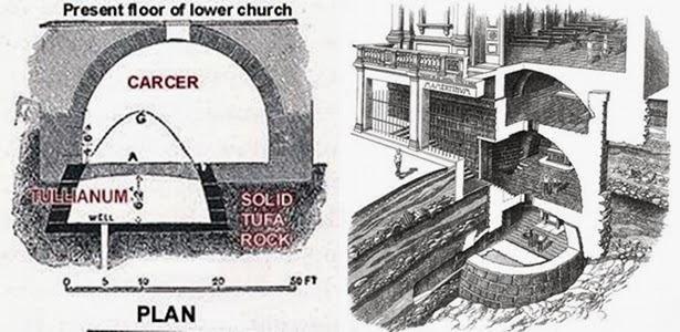 Sezione dei 4 livelli del Mamertino