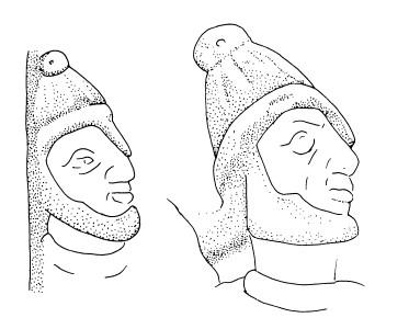 Elmi rappresentati sull'Arco di Galerio (Immagine da Laubscher)