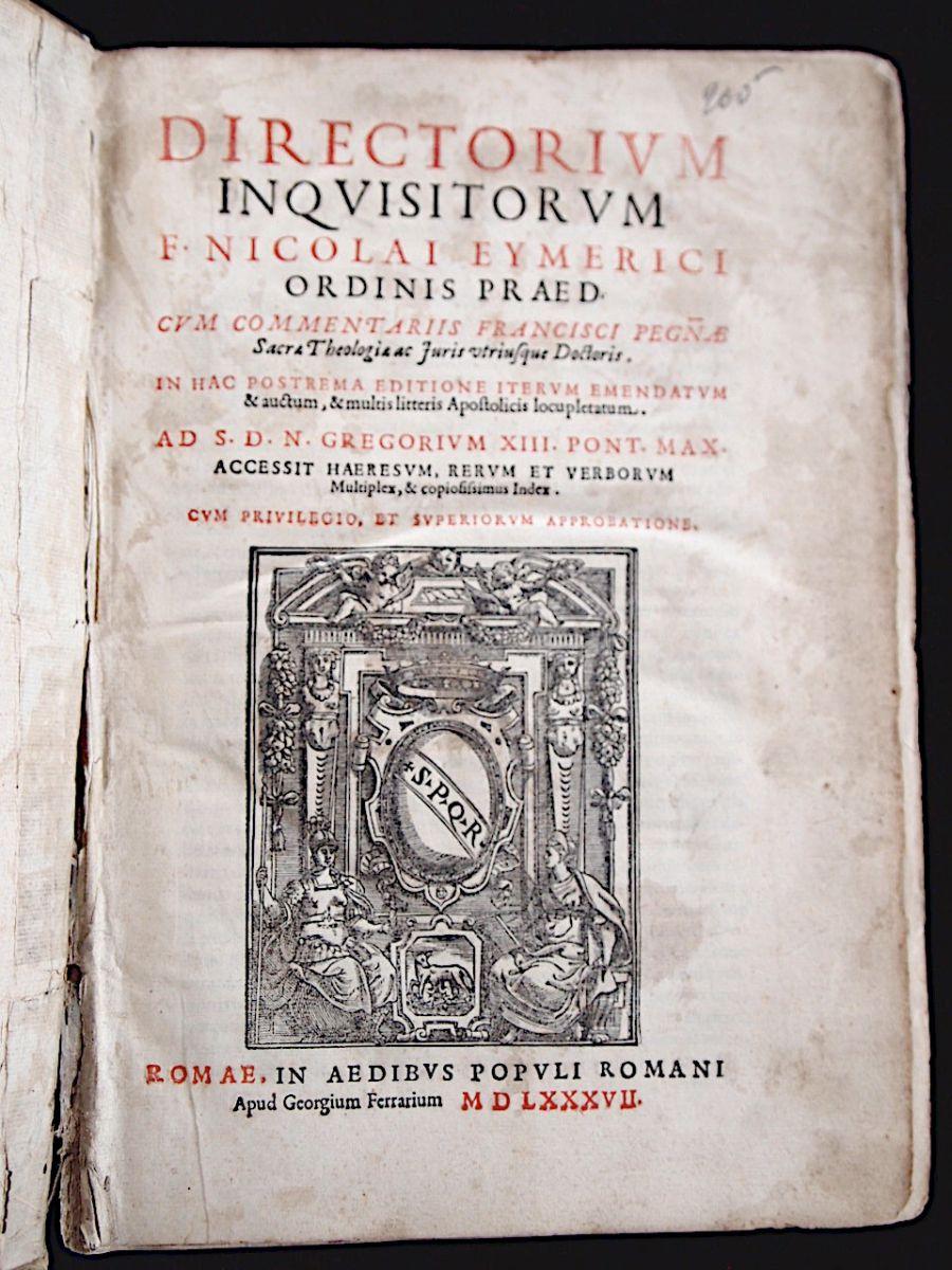 Directorium Inquisitorum di Nicolau Eymerich