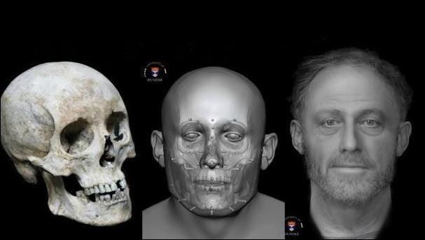 Ricostruzione facciale dello scheletro di XIII secolo (Foto: (Photo: cambridge-news.co.uk))