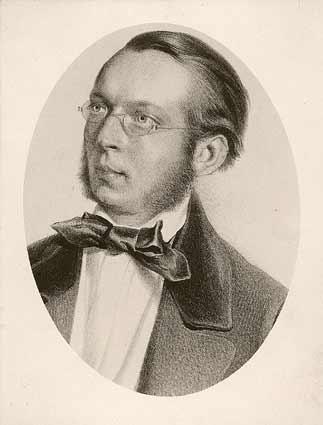 Ritratto del geologo e naturalista Christian Gottlieb Ferdinand von Hochstetter (1829 - 1884)