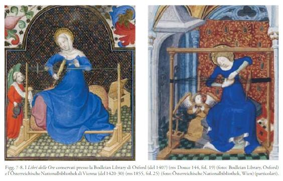 Esempi iconografici dell'uso delle tavolette. Sebbene siano queste raffigurazione più tarde, l'uso di tavolette è attestato in un'area geografica molto ampia fin dal I millennio a.C. (immagine da C.Giostra e P.Anelli)