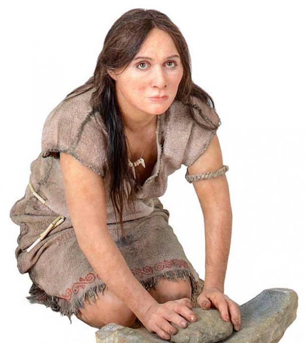 Ricostruzione di donna del Neolitico dal MUSE - Museo delle Scienze di Trento