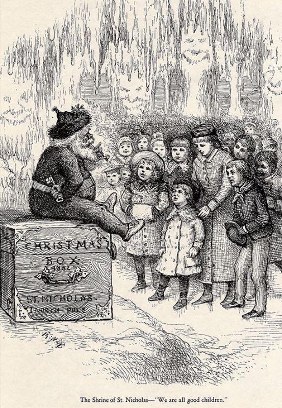 Nell'edizione del 1882 il Santa Claus di Thomas Nast rispolvera il nome di St. Nicholas