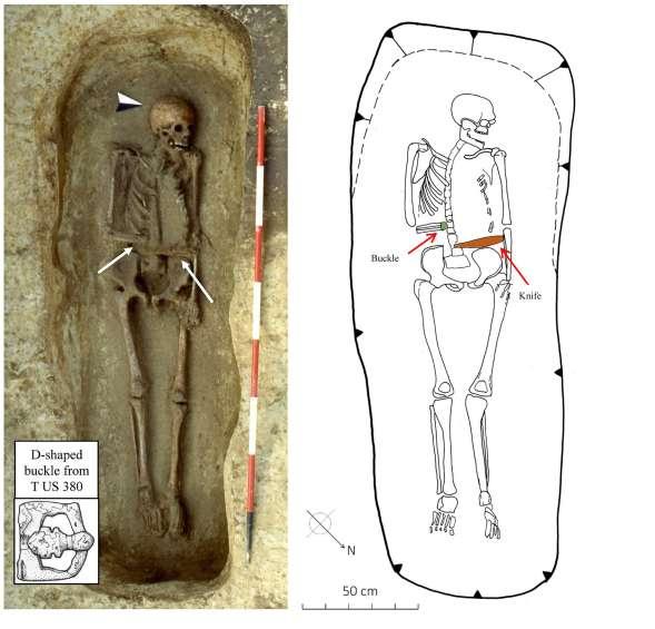 Una protesi Longobarda a forma di lama