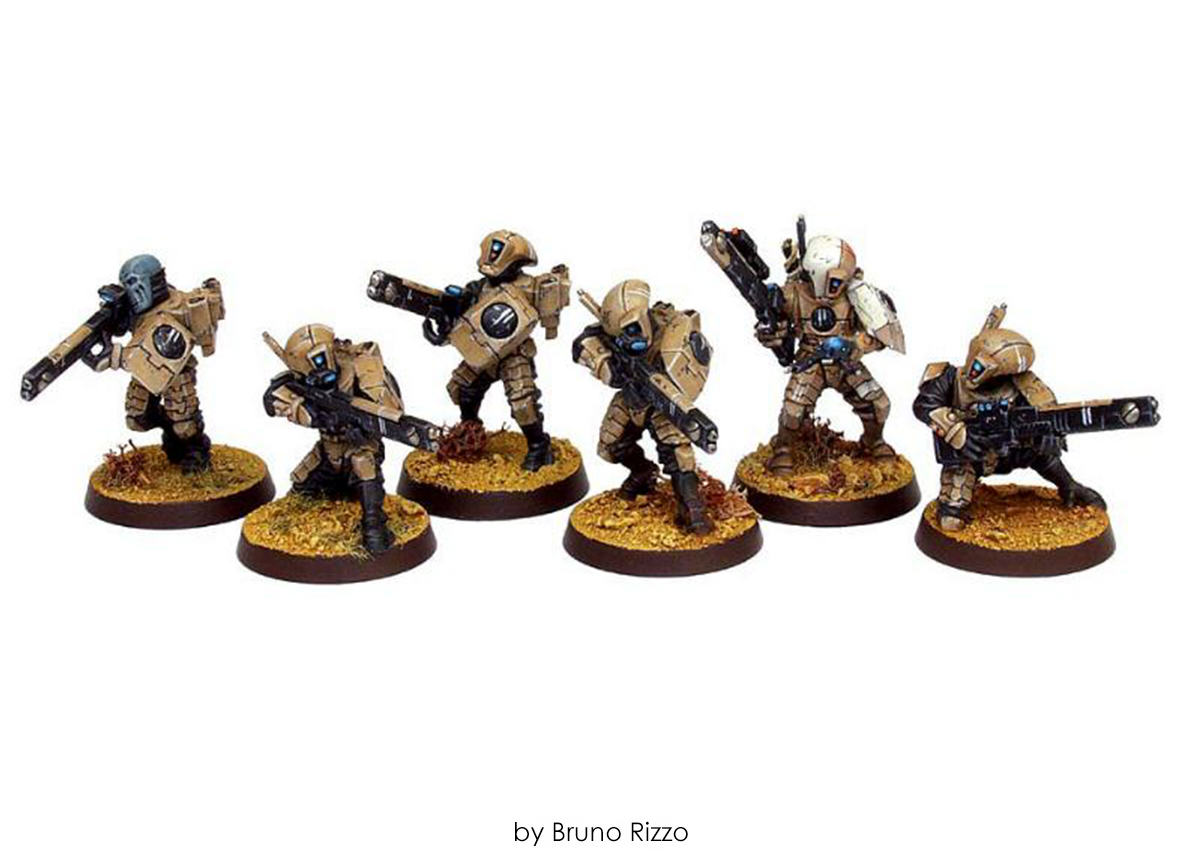 Empire-Ejercito-Tau-Bruno-Rizzo-Warhammer 40000-40k-Fire-Warrior-Team-01