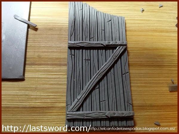 Madera-Gate-Sculpey-Wood-Puerta-Warhammer