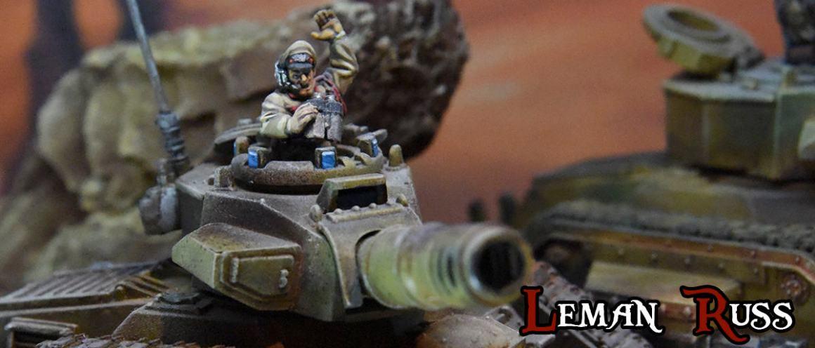 Comandante tanque Leman Russ Guardia Imperial Astra Militarum