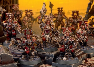 the Chaos warbands of Khorne, the god of the blood