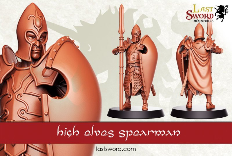 sisters - Now Sisters of Serens - LastSword Miniatures. Elf-Elven-Lords-Swordmen-Spearmen-Concept-Warhammer-09