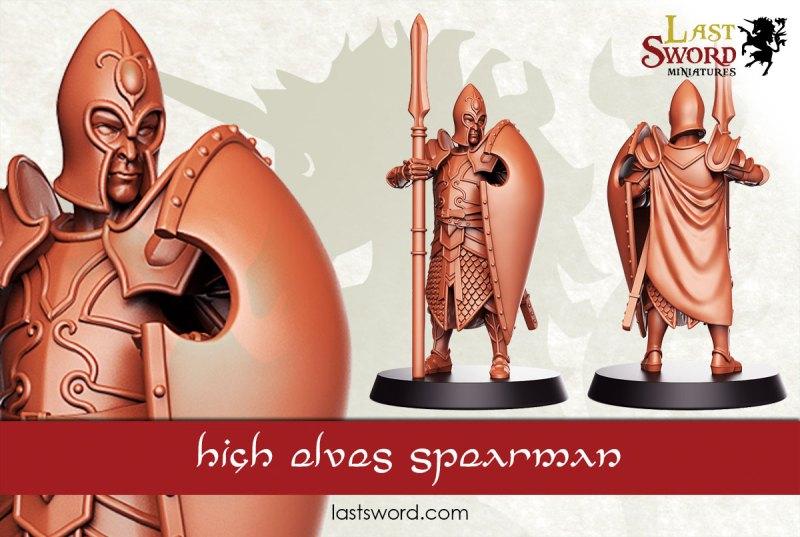 And Now Undeads! (kickstarter) Elf-Elven-Lords-Swordmen-Spearmen-Concept-Warhammer-09