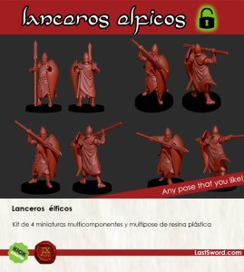 Kickstarter-Elven-Miniatures-Spearmén-spanish