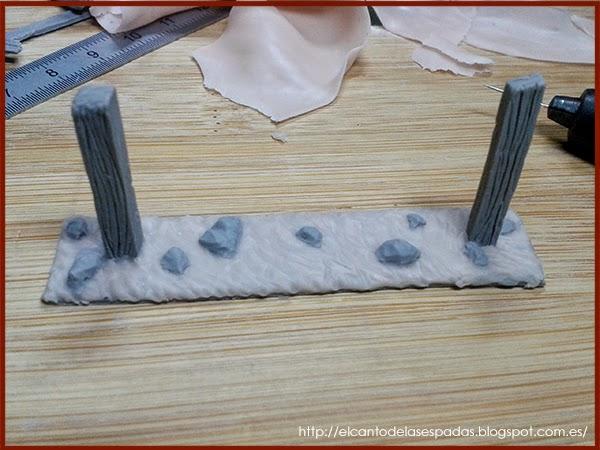 Super-Sculpey-Clay-Masilla-Valla-Madera-Peana-Wooden-Fence-Base-Warhammer-Scenery-Escenografia-Wargame-10
