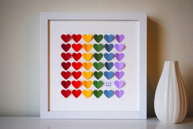 Картина сердце своими руками, как сделать картину с сердцем, как сделать панно в форме сердца на день святого валентина, как сделать картину на день святого валентина, объемное сердце из бумаги, сердце из маленьких сердечек сделать