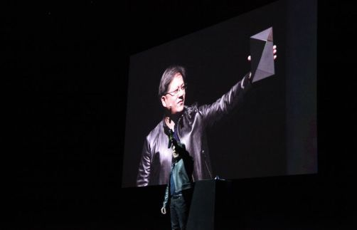 Yes, that square in Jen-Hsun Huang's hand is the upcoming NVidia Shield. Let that sink in