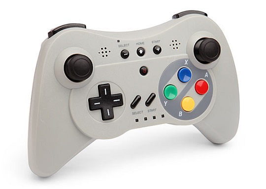 The controller is planned to be a third-party Classic Controller Pro controller with a USB wire similar to the one shown. Photo credit: Thinkgeek.com