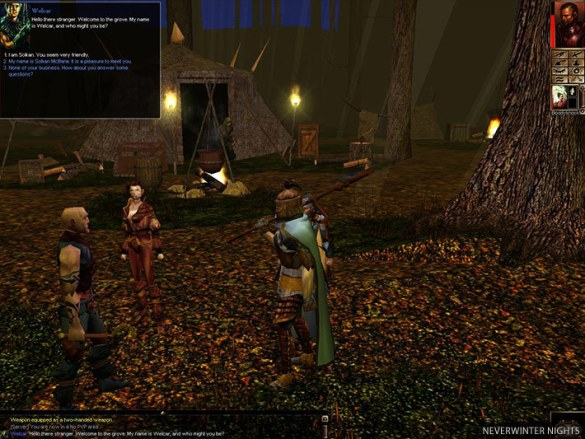 A scene from Neverwinter Nights