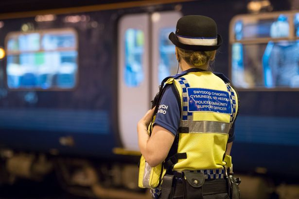 JS95511481JPG - This is what it's like dealing with anti social behaviour on a train, according to British Transport Police - Wales Online