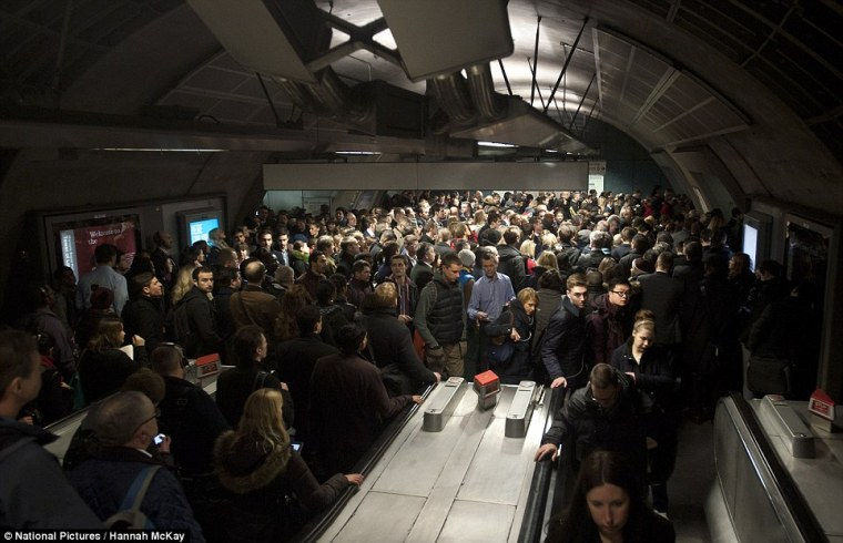 tube crowd - TfL facing £400m budget hole as passengers desert 'rowdy and crowded' London Tube
