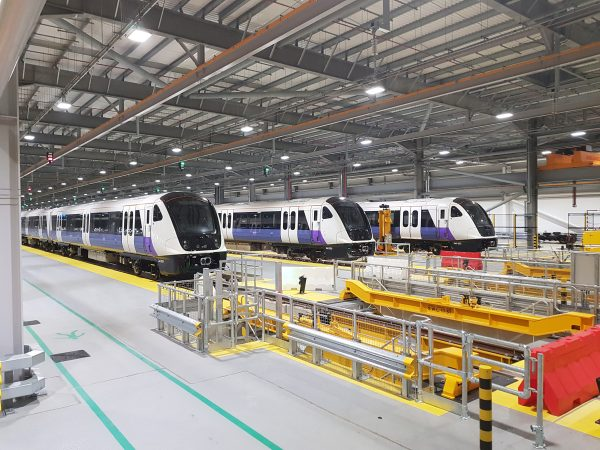 Elizabeth line trains at Old Oak Common depot 301628 600x450 - 16 new photos show off Crossrail stations and tunnels