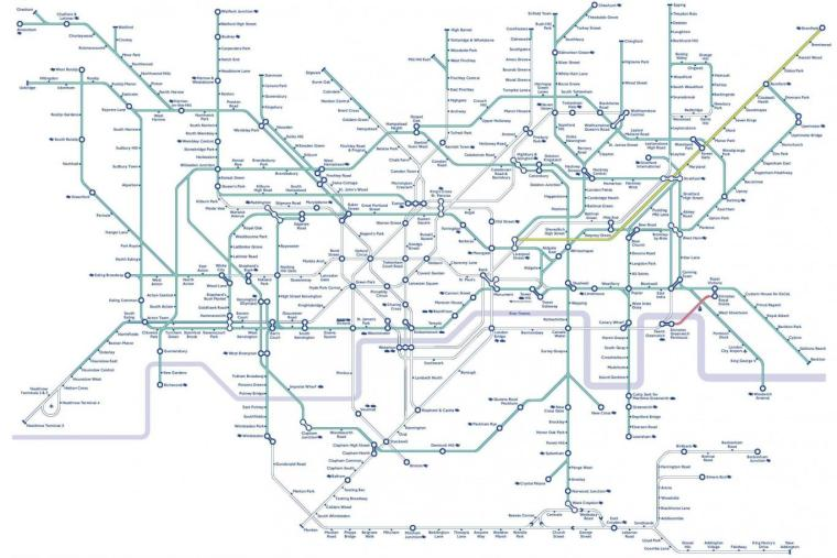 bicycles tube map 1024x683 - Travelling on the underground with a bike?