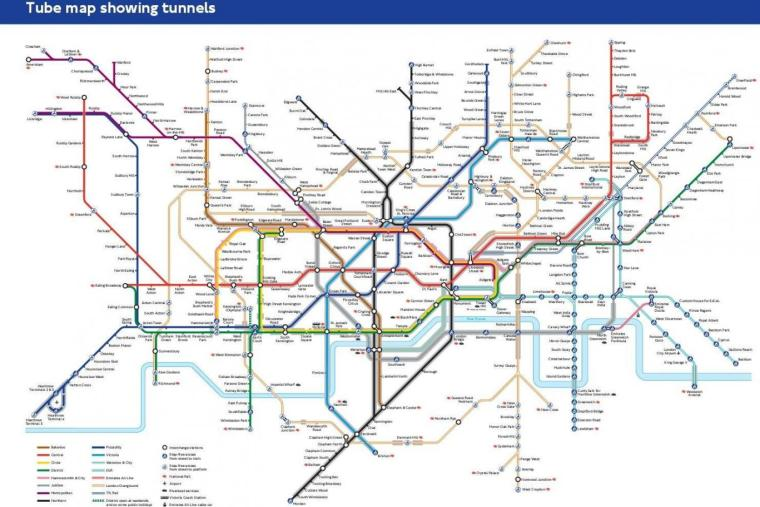 tube map stations under and over ground 1024x683 - A tube map for people with claustrophobia