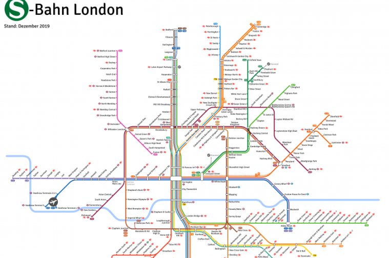 """sb london head - Some German fella has made a map of London's """"S-Bahn"""" network, and it's glorious"""