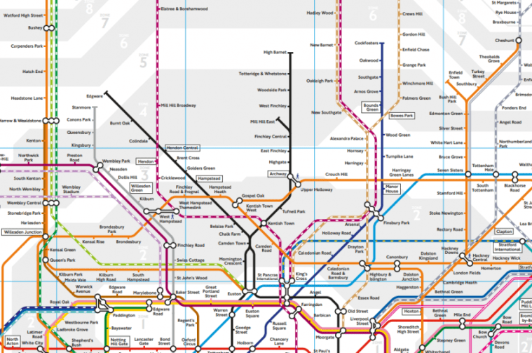 map head - The new London rail maps are out, and they are horrible
