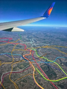 tube map above - The Tube Map... As Seen From A Plane
