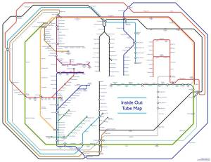 Inside Out London Underground Tube Map - Londoner creates 'fascinating' - but ultimately completely 'pointless' - inside out Tube map