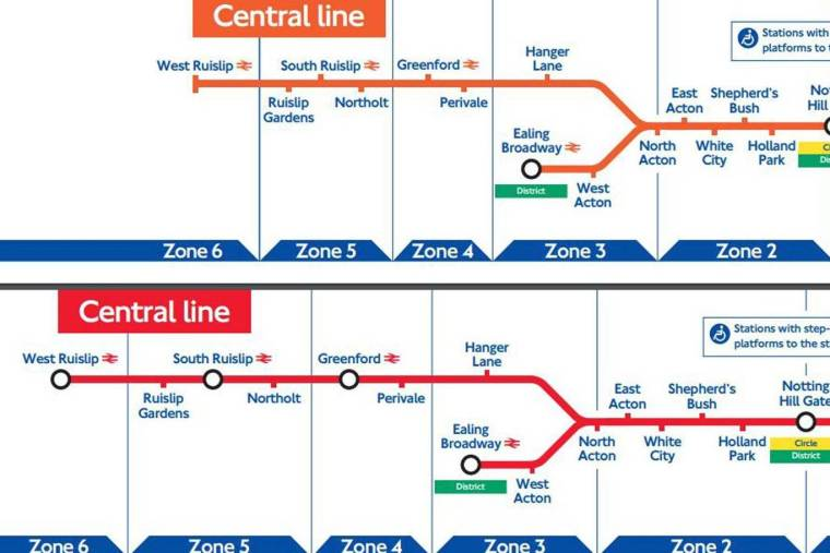 tfltubearchives0310 1024x683 - Revealed: TfL Tube maps from the last two decades show how the London Underground lines have evolved