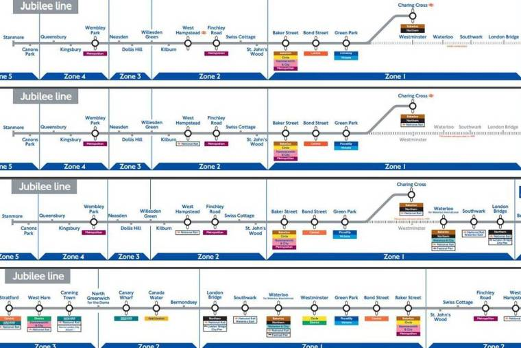 tubearchives0310 1024x683 - Revealed: TfL Tube maps from the last two decades show how the London Underground lines have evolved
