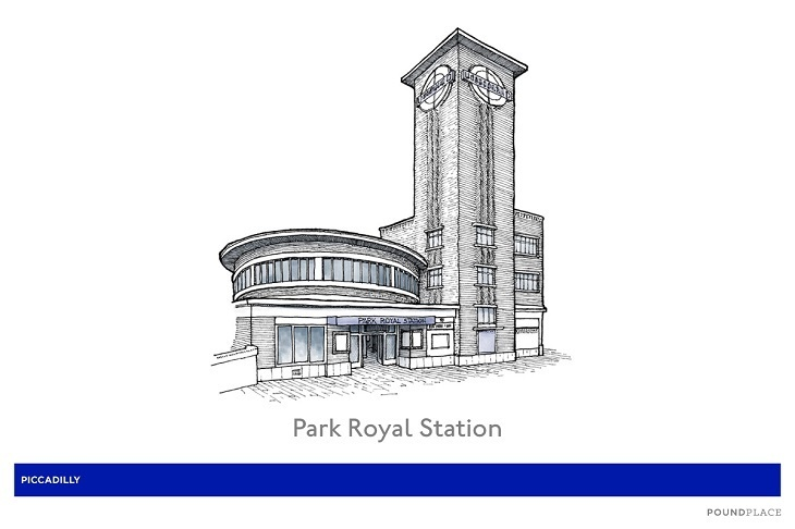 14 park royal station illustration - Someone Has Illustrated 82 Of The Underground's Prettiest Stations
