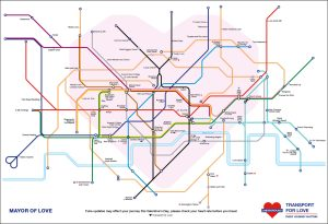 valentines tube map big - This Valentine's Themed Tube Map Is Enough To Break A Pun Artist's Heart