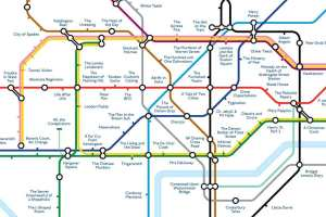 tubemapcentral1 - 'Literature' Tube map replaces stations with titles of books set in the area