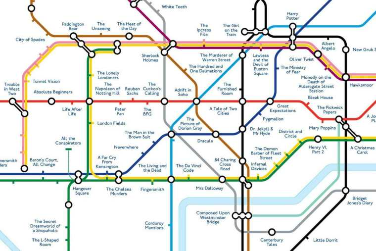 tubemapcentral1 1024x683 - 'Literature' Tube map replaces stations with titles of books set in the area
