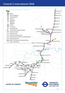 0 proposed route - How the London Underground map will look if Crossrail 2 ever happens