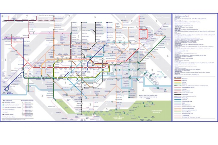 tube 18  zones  jpeg - The Tube Map, Redesigned By A Tooting Resident