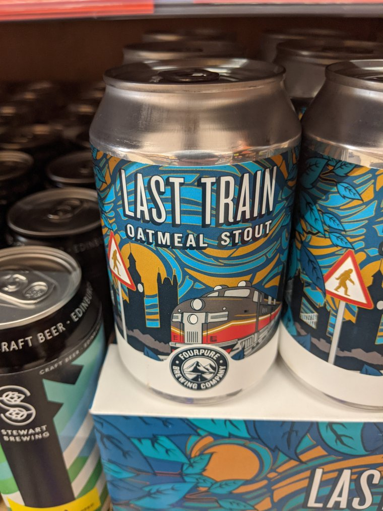 Fourpure Last Train Oatmeal Stout Beer from Lidl can 768x1024 - Fourpure Last Train Oatmeal Stout Beer from Lidl