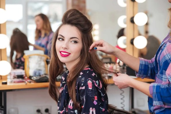 Woman at Hair Stylist