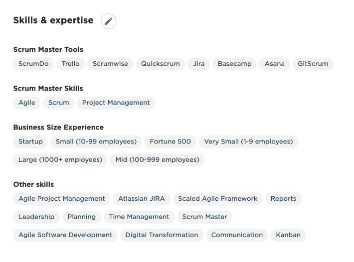 Upwork profil freelancer