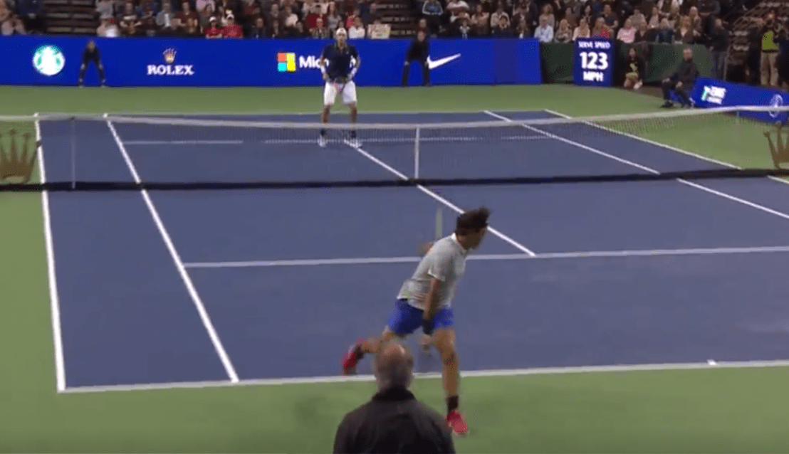 Roger Federer et son point majestueux contre John Isner