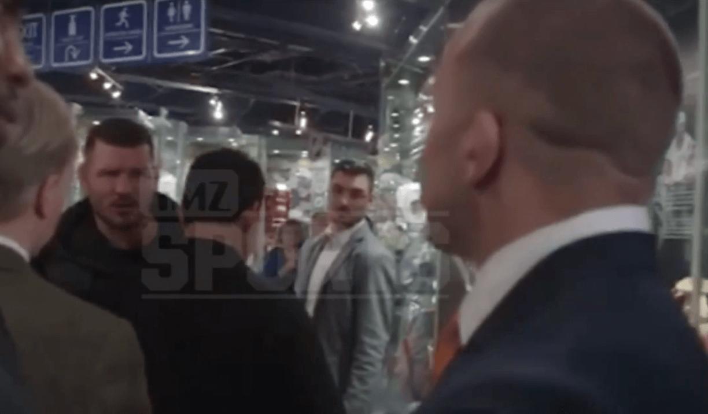 Après la Conférence de Presse, Michael Bisping et GSP séparés en backstage